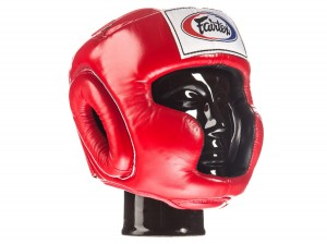 FAIRTEX Kask Bokserski HG3 'Full Coverage' Czerwony