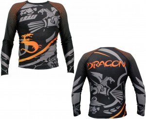 DRAGON Rashguard MMA Cage Fighter