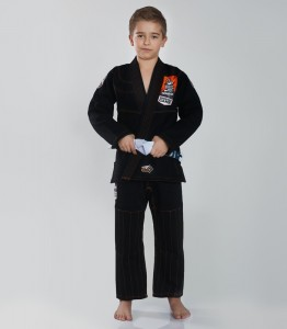 GROUND GAME Kimono do BJJ Dziecięce TENSAI Czarne (350g)