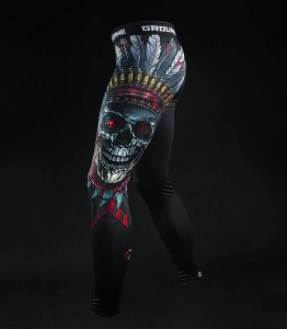 GROUND GAME Legginsy Indian Skull