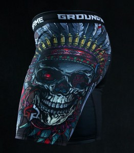 GROUND GAME Spodenki Vale Tudo Indian Skull