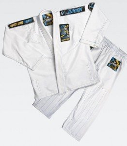 GROUND GAME Kimono do BJJ Dziecięce JUNIOR 3.0 Białe (350g)