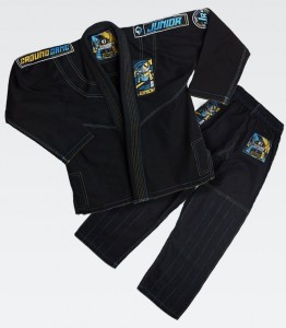 GROUND GAME Kimono do BJJ Dziecięce JUNIOR 3.0 Czarne (350g)