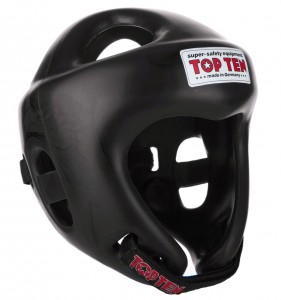 TOP TEN Kask Bokserski Turniejowy KTT-1 COMPETITION FIGHT Czarny