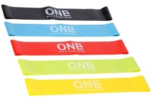 ONE FITNESS Zestaw 5 Gum Mini Band SET05