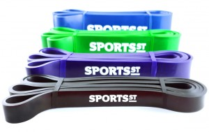SPORTS ST Zestaw 4 Gum Treningowych Power Band