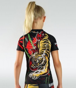 GROUND GAME BUSHIDO Rashguard Dziecięcy Red Tiger