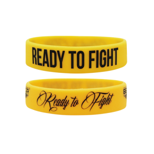 BELTOR Opaska Wristband - Ready to fight (żółta)