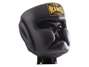 TOP KING Kask Bokserski Full Coverage Czarny