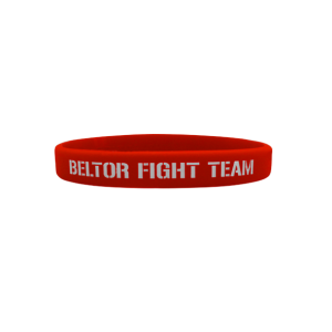 BELTOR Opaska Wristband - Beltor Fight Team (czerwona)