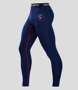 GROUND GAME Legginsy Athletic 2.0 Granatowe