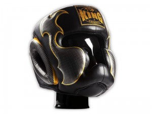 TOP KING Kask Bokserski Empower Creativity 01 Czarno-Srebrny