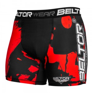 BELTOR Szorty CompressionGear Red Stains