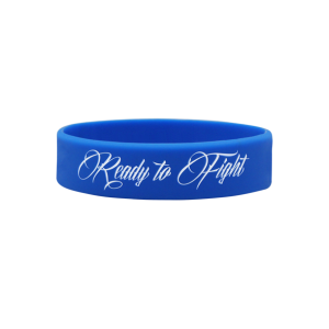 BELTOR Opaska Wristband - Ready to fight (niebieska)
