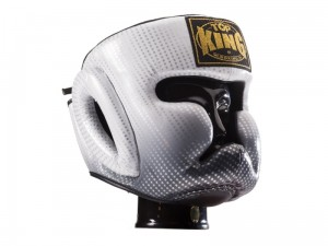 TOP KING Kask Bokserski Sparingowy Super Star Srebrny
